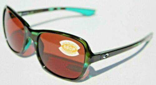 COSTA DEL MAR Kare 580P POLARIZED Sunglasses Womens Shiny Kiwi Tortoise/Copper