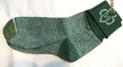 "Intermediate Girl Scout Uniform Socks, Anklets EUC ""Heather Green"" 40s HALLOWEEN"