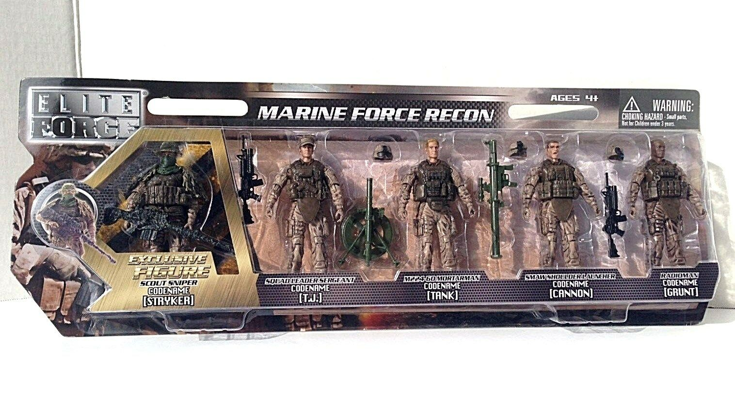 Elite Force Marine Recon Action Figure Kids Army Military Co
