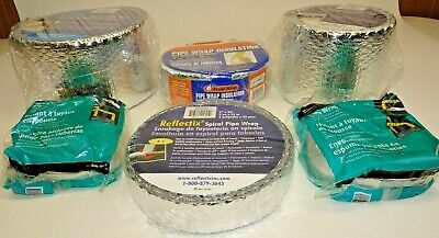 Lot 6 Rolls Pipe Wrap Reflectix Spiral Wrap Frost King Md 6 2 X 25 Linear