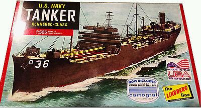 Lindberg US Navy WWII Kennebec Class Tanker Ship model kit 1/525