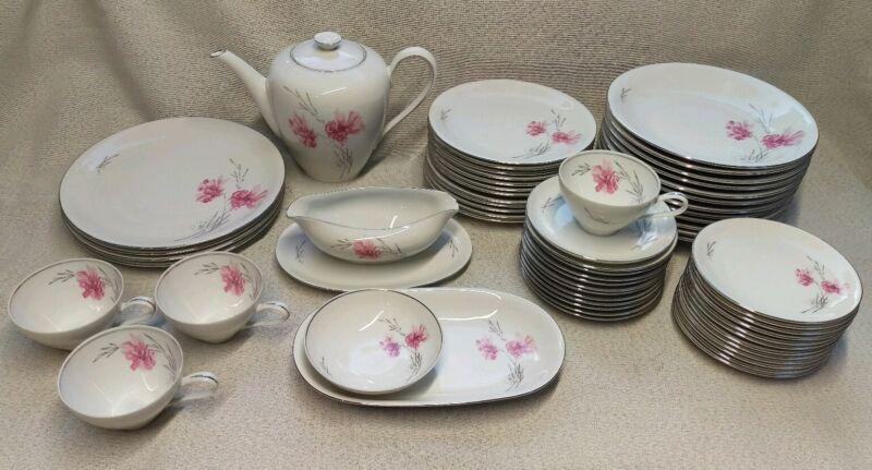 KPM Krister Tea Pot Dish Set 60 Pieces Germany
