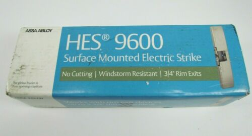 """HES 9600 9600-630 Surface Mounted Electric Strike 3/4"""" Rim Exits"""