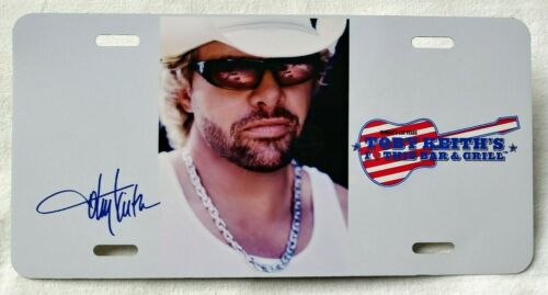 Toby Keith License Plate Harrah