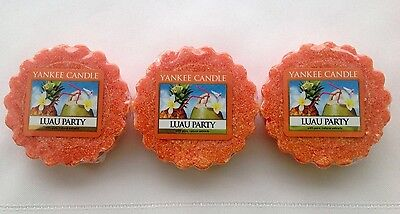 Yankee Candle LUAU PARTY LOT OF 3 TARTS WAX MELTS RETIRED HTF ITEM HAWAII - Luau Items