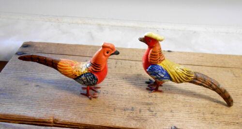 Vintage Germany PUTZ Pheasants - Birds- Lead Feet