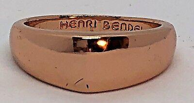 (Henri Bendel Metallic Gold Plated Brass Hudson Stack Ring Size 9)