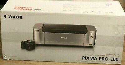 NEW Canon Pixma PRO-100 Digital Photo Color Professional Inkjet Printer+Inks NIB