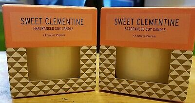 """Illume """"Sweet Clementine """" 4.4 oz Single Wick Candle Set! Lot of Two (2)!  NWT!"""