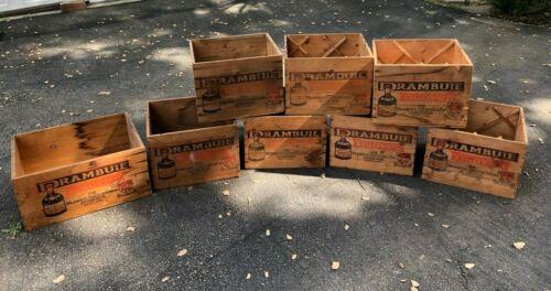 Drambuie Liqueur Co. Wooden Crates Storage Box Vintage Scotland Set of 8