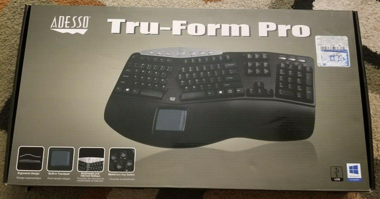 Adesso PCK-308UB - Tru-Form Pro Ergonomic Contour TouchPad U