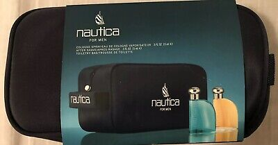 Nautica Classic Gift Set for Men ( .5 oz Cologne + .5 oz Aftershave + Bag )