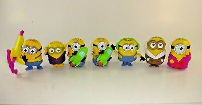 Lot of 7 McDonalds Happy Meal Toys - Minions Despicable Me, Kevin, Bob, Stuart