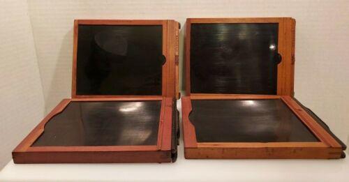 Kodak / PREMO Wood Film/Plate Holders Antique - Set of Four