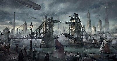 "Steampunk London - High Quality Canvas 20""x30"""