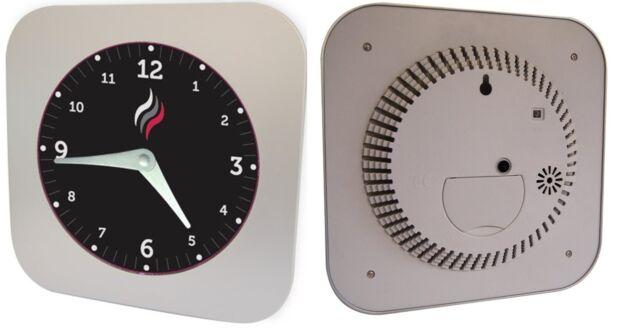 Smoke Detector Clock. 2 In 1 Smoke Alarm And Clock Battery Smoke Detector