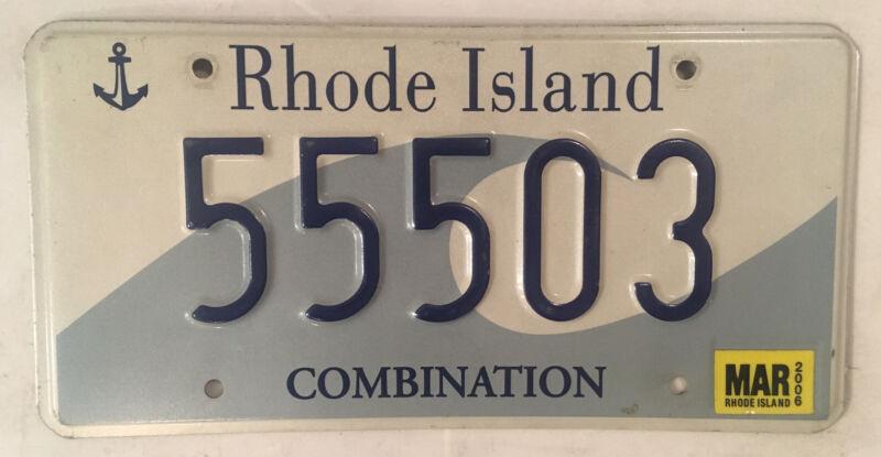 Rhode Island TRIPLE 5 license plate 555 Ocean Waves repeating RI