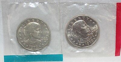 1979 P D $1 SUSAN B. ANTHONY DOLLARS IN MINT CELLO BRILLIANT UNCIRCULATED