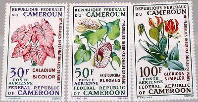 CAMEROUN KAMERUN 1969 569-71 C119-21 Flowers Blumen Flora Flower Show Paris MNH
