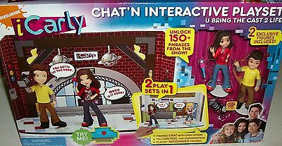 Used, icarly Miranda Cosgrove Chat'N Interactive Playset Jennette McCurty Nathan Kress for sale  Pinon Hills