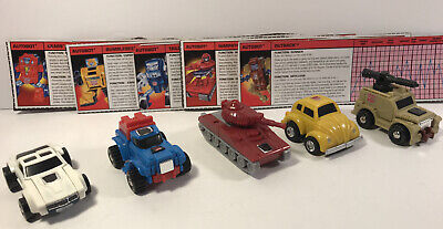 Minibot Lot - Tailgate Bumblebee Gears Outback Warpath Transformers G1 Reissue