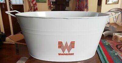 "Whataburger Metal Bucket 17"" L 11"" W 7"" H"