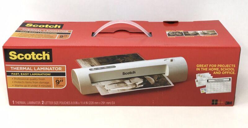 Scotch Thermal Laminator 2 Roller System Fast WarmsUp 3-5 Min Laminating Machine