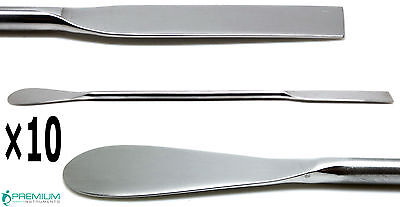 10 Dental Lab Spoon Spatula Double Ended 18cm Medical Mixing Instruments
