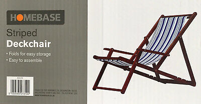 COLLECTION ONLY : TWO (2x) HARDWOOD DECKCHAIRS WITH ARMS BRAND NEW UNUSED BOXED