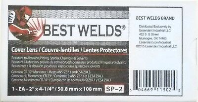 Best Welds Clear Cover Lens Plate 2 X 4 14 Welding Helmet Hood 10 Pack Cr-39