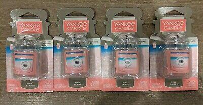 4 Yankee Candle PINK SANDS Car Jar Ultimate Air Fresheners