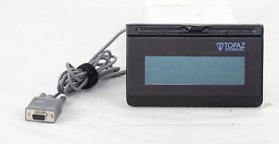 Topaz Systems T-lbk462-kab-r Serial Signature Pad No Pen Or Accessories