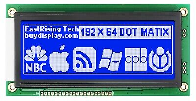 Low-cost 19264 192x64 Graphic Lcd Display Module Blue White Color