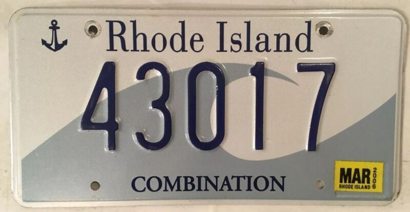 Rhode Island OCEAN WAVE license plate Combination State Sea Waves Providence RI