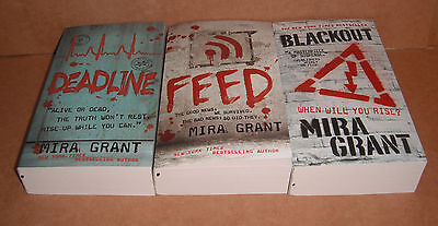 The Newsflesh Trilogy Complete Set by Mira Grant Paperback NEW