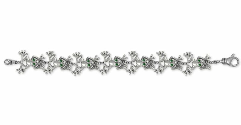 Frog Bracelet Jewelry Sterling Silver Handmade Frog Bracelet FG30-XBR