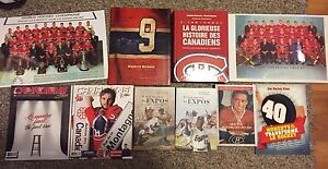 Montreal Canadiens/Expos books and magazines