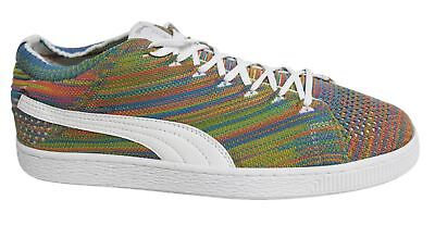Puma Basket EvoKNIT 3D Lace Up Off Multi Mens Textile Trainers 363650 01 B9C