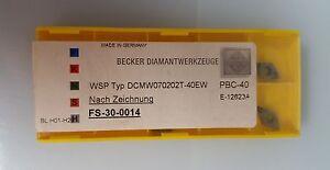 2-CBN-Insertos-Becker-DCMW070202T-40EW-incluye-19-MwSt