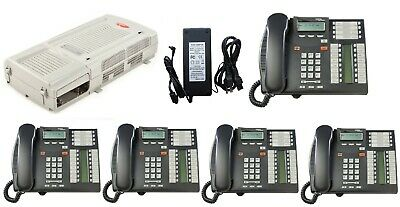 Nortel Avaya Bcm 50 R6 6.0 4 Line Phone System W 5 T7316e Telephones Voicemail