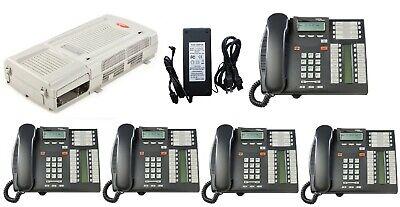 Nortel Avaya Bcm 50 R6 6.0 4 Line Phone System W 5 T7316e Telephones Voicemail
