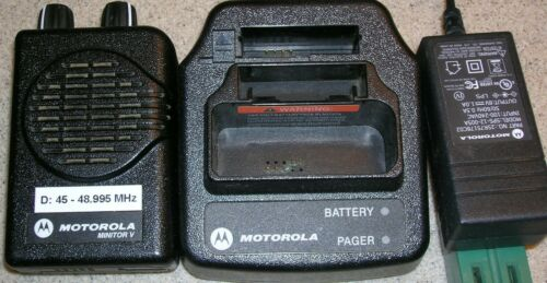 Motorola Minitor V(5) Two Channel 45-48.995 MHz Non-Stored Voice  NSV Pager