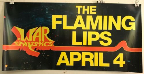 """THE FLAMING LIPS 2006 At War With The Mystics 12""""x24"""" PROMO poster  EXC VG COND"""