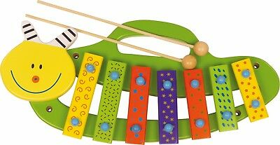 Xylophon Raupe Holz Musik Instrument Tiere Musikspielzeug Xylofon für Kinder Neu