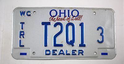 Vintage 1993 Original OHIO Watercraft Trailer Dealer License Plate T2Q1 3