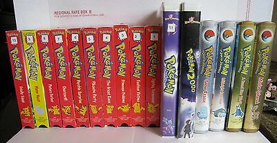 Lot of 16 Pokemon VHS Movie Tapes Pikachu