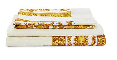 Authentic VERSACE HOME SIGNATURE Heritage full sheet set + pillowcase NIB