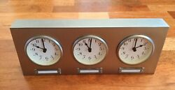 Pottery Barn Around The World Clock Brushed Nickel