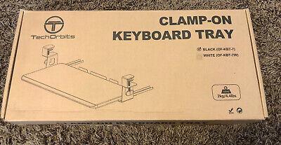Techorbits Keyboard Tray Under Desk 27 Clamp On Keyboard Drawer Computer S...