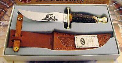 Case 1997 RED STAG Kodiak Sheath Knife Mint In Box Sheath Not Folded AMAZING! NR